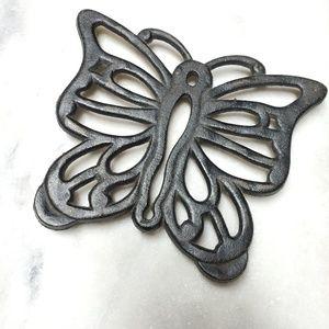 Vintage   Butterfly Cast Iron Trivet